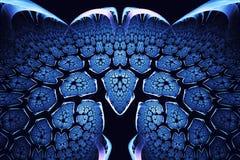αφηρημένο fractal ανασκόπησης Ιδιαίτερα λεπτομερές υπόβαθρο golowich και μπλε τόνοι με τα στοιχεία των σπειρών, των γραμμών και τ διανυσματική απεικόνιση