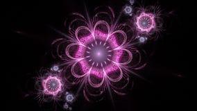 Αφηρημένο fractal ζωντανεψοντα λουλούδι υπόβαθρο για το σχέδιο Άνευ ραφής loopable HD βιντεοκλίπ φιλμ μικρού μήκους