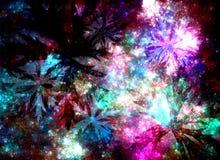Αφηρημένο fractal κόσμημα μεταλλοφόρων κοιτασμάτων Διανυσματική απεικόνιση