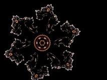 Αφηρημένο fractal παραγμένο υπολογιστής snowflake Στοκ Φωτογραφία