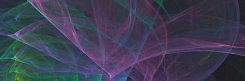 Αφηρημένο fractal, πολύχρωμο έμβλημα γραμμών παραγμένο υπολογιστής επικεφαλής καλώδιο ατόμων Ελεύθερη απεικόνιση δικαιώματος