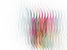Αφηρημένο fractal σχέδιο κυμάτων στο άσπρο υπόβαθρο Στοκ εικόνα με δικαίωμα ελεύθερης χρήσης