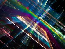 Αφηρημένο fractal τεχνολογίας υπόβαθρο - ψηφιακά παραγμένο ima Στοκ Εικόνες