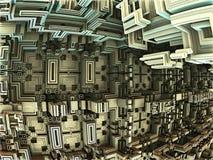 Αφηρημένο fractal υπόβαθρο, τρισδιάστατη απεικόνιση ελεύθερη απεικόνιση δικαιώματος