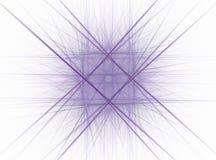 Αφηρημένο fractal υπό μορφή πορτοκαλιού τετραγώνου με τις ακτίνες Στοκ Φωτογραφία