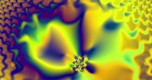 Αφηρημένο fractal υψηλής ανάλυσης βίντεο με ένα υπνωτικό psychedelic εκκρεμές διανυσματική απεικόνιση
