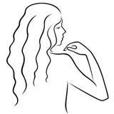 Αφηρημένο gesticulating θηλυκό με την άποψη από την πλάτη Στοκ Εικόνες