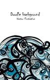 Αφηρημένο hand-drawn αναδρομικό σχέδιο κυμάτων, κυματιστό υπόβαθρο Στοκ Εικόνα