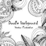 Αφηρημένο hand-drawn αναδρομικό σχέδιο κυμάτων, κυματιστό υπόβαθρο Στοκ Εικόνες