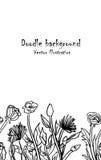 Αφηρημένο hand-drawn αναδρομικό σχέδιο κυμάτων λουλουδιών, κυματιστό υπόβαθρο Στοκ Εικόνες