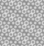 Αφηρημένο hexagon άνευ ραφής σχέδιο από τα ριγωτά στοιχεία Σύσταση του πλέγματος, δικτυωτό πλέγμα απεικόνιση αποθεμάτων