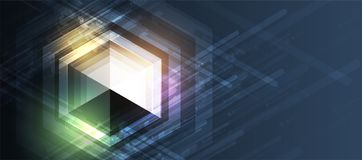 αφηρημένο hexagon ανασκόπησης Σχέδιο poligonal τεχνολογίας Ψηφιακός φουτουριστικός μινιμαλισμός απεικόνιση αποθεμάτων