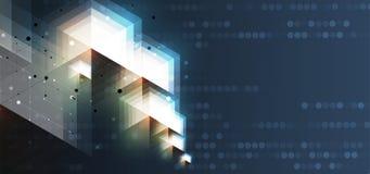 αφηρημένο hexagon ανασκόπησης Σχέδιο poligonal τεχνολογίας Ψηφιακός φουτουριστικός μινιμαλισμός ελεύθερη απεικόνιση δικαιώματος