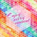 Αφηρημένο hexagon απολαμβάνει κάθε ευχετήρια κάρτα στιγμής Στοκ Εικόνες