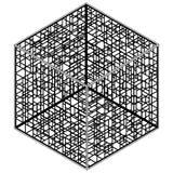αφηρημένο hexagon διάνυσμα κλο&upsil Στοκ Φωτογραφία