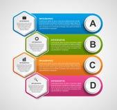 Αφηρημένο hexagon πρότυπο infographics επιχειρησιακών επιλογών ελεύθερη απεικόνιση δικαιώματος