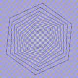 Αφηρημένο hexagon υπόβαθρο με τα ελαφριά αποτελέσματα Στριμμένο hexagon Αφηρημένη διανυσματική μορφή Αφηρημένος γεωμετρικός σύγχρ Στοκ Εικόνες