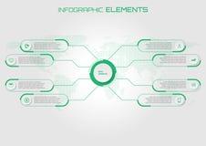 Αφηρημένο infographic πράσινο θέμα στοιχείων μερικά στοιχεία αυτού Στοκ Εικόνες