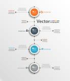 Αφηρημένο infographic πρότυπο με τέσσερα βήματα για την επιτυχία Στοκ φωτογραφία με δικαίωμα ελεύθερης χρήσης
