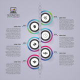 Αφηρημένο infographic πρότυπο υπόδειξης ως προς το χρόνο χρυσή ιδιοκτησία βασικών πλήκτρων επιχειρησιακής έννοιας που φθάνει στον Στοκ Εικόνα