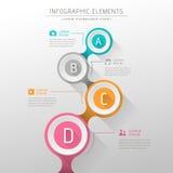 Αφηρημένο infographics διαγραμμάτων ροής διανυσματική απεικόνιση
