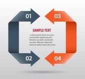 Αφηρημένο infographics με τα βέλη Στοκ εικόνες με δικαίωμα ελεύθερης χρήσης