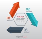 Αφηρημένο infographics με τα βέλη Στοκ Εικόνα