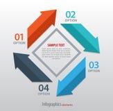 Αφηρημένο infographics με τα βέλη Στοκ Εικόνες