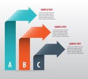 Αφηρημένο infographics με τα βέλη Στοκ φωτογραφία με δικαίωμα ελεύθερης χρήσης