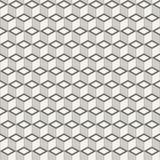 Αφηρημένο isometric άνευ ραφής σχέδιο κύβων Στοκ Εικόνες
