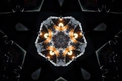 Αφηρημένο mandala κεριών και πυρκαγιάς Στοκ εικόνα με δικαίωμα ελεύθερης χρήσης