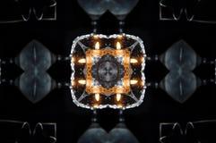 Αφηρημένο mandala κεριών και πυρκαγιάς Στοκ εικόνες με δικαίωμα ελεύθερης χρήσης