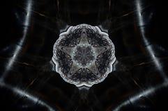 Αφηρημένο mandala 5 κεριών πλαισιωμένο αστέρι Στοκ Φωτογραφίες
