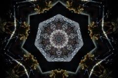 Αφηρημένο mandala κεριών Στοκ φωτογραφίες με δικαίωμα ελεύθερης χρήσης