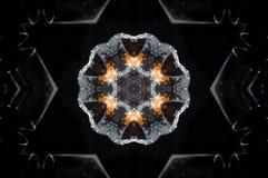 Αφηρημένο mandala κεριών Στοκ Εικόνες