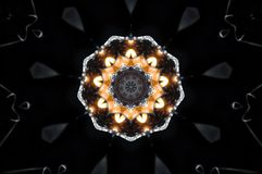 Αφηρημένο mandala κεριών Στοκ Φωτογραφία