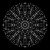 αφηρημένο mandala Ψηφιακό σχέδιο με τις φοβιτσιάρεις γραμμές Στοκ Φωτογραφία