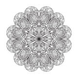 Αφηρημένο mandala zentangle Στοκ εικόνες με δικαίωμα ελεύθερης χρήσης