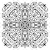 Αφηρημένο mandala zentangle Στοκ εικόνα με δικαίωμα ελεύθερης χρήσης