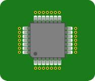 αφηρημένο PCB τσιπ Στοκ εικόνα με δικαίωμα ελεύθερης χρήσης
