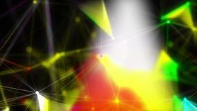 Αφηρημένο polygonal διαστημικό υπόβαθρο με τη σύνδεση των σημείων και των γραμμών διανυσματική απεικόνιση