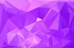 Αφηρημένο polygonal υπόβαθρο Φουτουριστικό ύφος Γεωμετρική ζωηρόχρωμη σύσταση τριγώνων Επιφάνεια Mosaical απεικόνιση αποθεμάτων