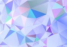 Αφηρημένο polygonal υπόβαθρο Φουτουριστικό ύφος Γεωμετρική ζωηρόχρωμη σύσταση τριγώνων Επιφάνεια Mosaical διανυσματική απεικόνιση