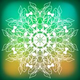 Αφηρημένο snowflake κλάδων φύλλων διανυσματική απεικόνιση