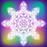 Αφηρημένο snowflake λουλουδιών μπουκλών ελεύθερη απεικόνιση δικαιώματος
