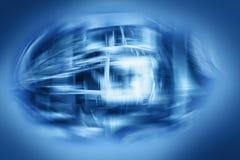 Αφηρημένο space-time επιστήμης φουτουριστικό μπλε υπόβαθρο Στοκ εικόνες με δικαίωμα ελεύθερης χρήσης