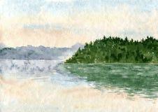 αφηρημένο watercolor εγγράφου τοπίων ελεύθερη απεικόνιση δικαιώματος