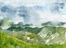 αφηρημένο watercolor εγγράφου τοπίων διανυσματική απεικόνιση