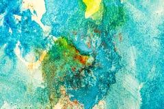 αφηρημένο watercolor ζωγραφικής Στοκ Φωτογραφίες