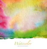 Αφηρημένο watercolor και ακρυλικό χρωματισμένο υπόβαθρο Στοκ φωτογραφίες με δικαίωμα ελεύθερης χρήσης
